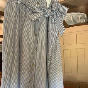 NWT Striped Midi Skirt